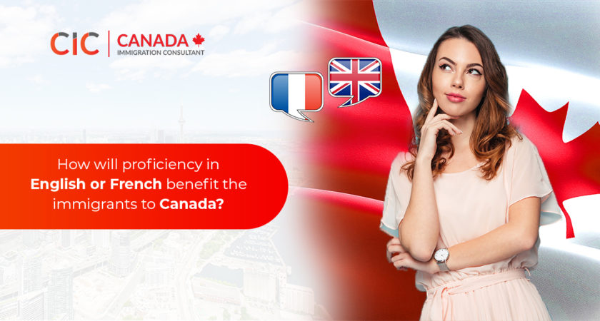 How will proficiency in English or French benefit the immigrants to Canada?
